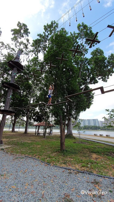 Forest Adventure Bedok Reservoir Singapore obstacle course