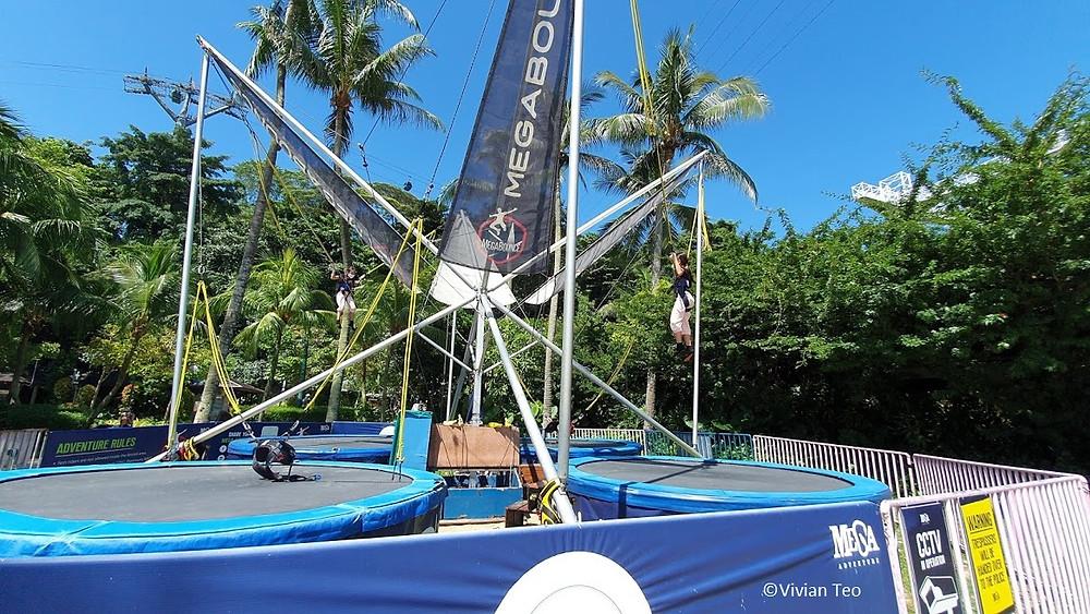 mega bounce adventure sentosa singapore kids bungy bungee trampoline siloso beach