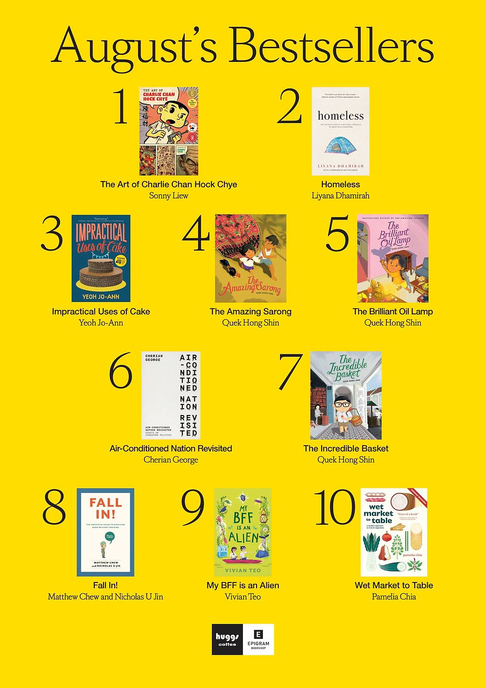 Huggs Epigram bestsellers My BFF is an Alien Singapore Singlit children middle grade books