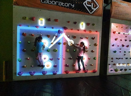 Tried augmented reality walls yet? Here's why kids will love those at Climbers Laboratory