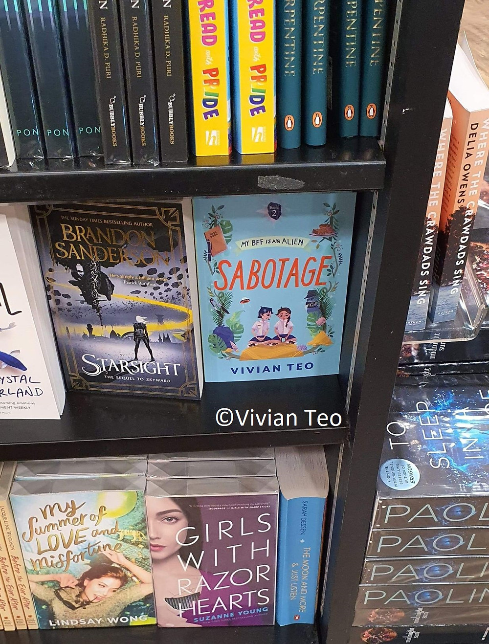 My BFF is an alien sabotage Vivian Teo Times bookstore Singapore middle grade book singlit children adventure reading