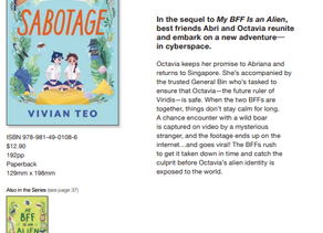 Coming to you in October - My BFF is an Alien: Sabotage