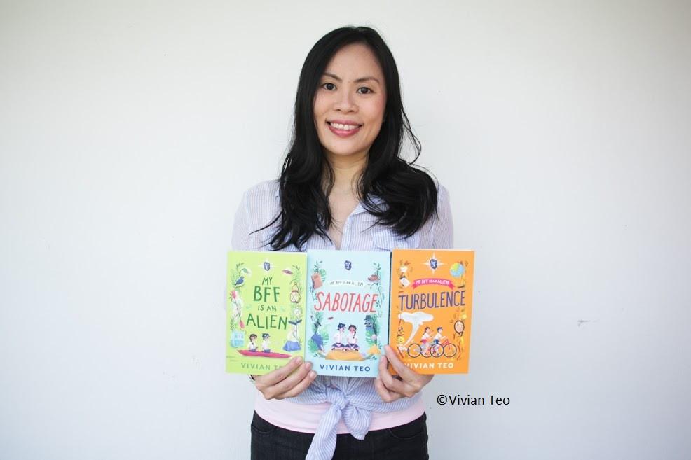 Vivian Teo My BFF is an alien Singapore middle grade books children English Sabotage Turbulence