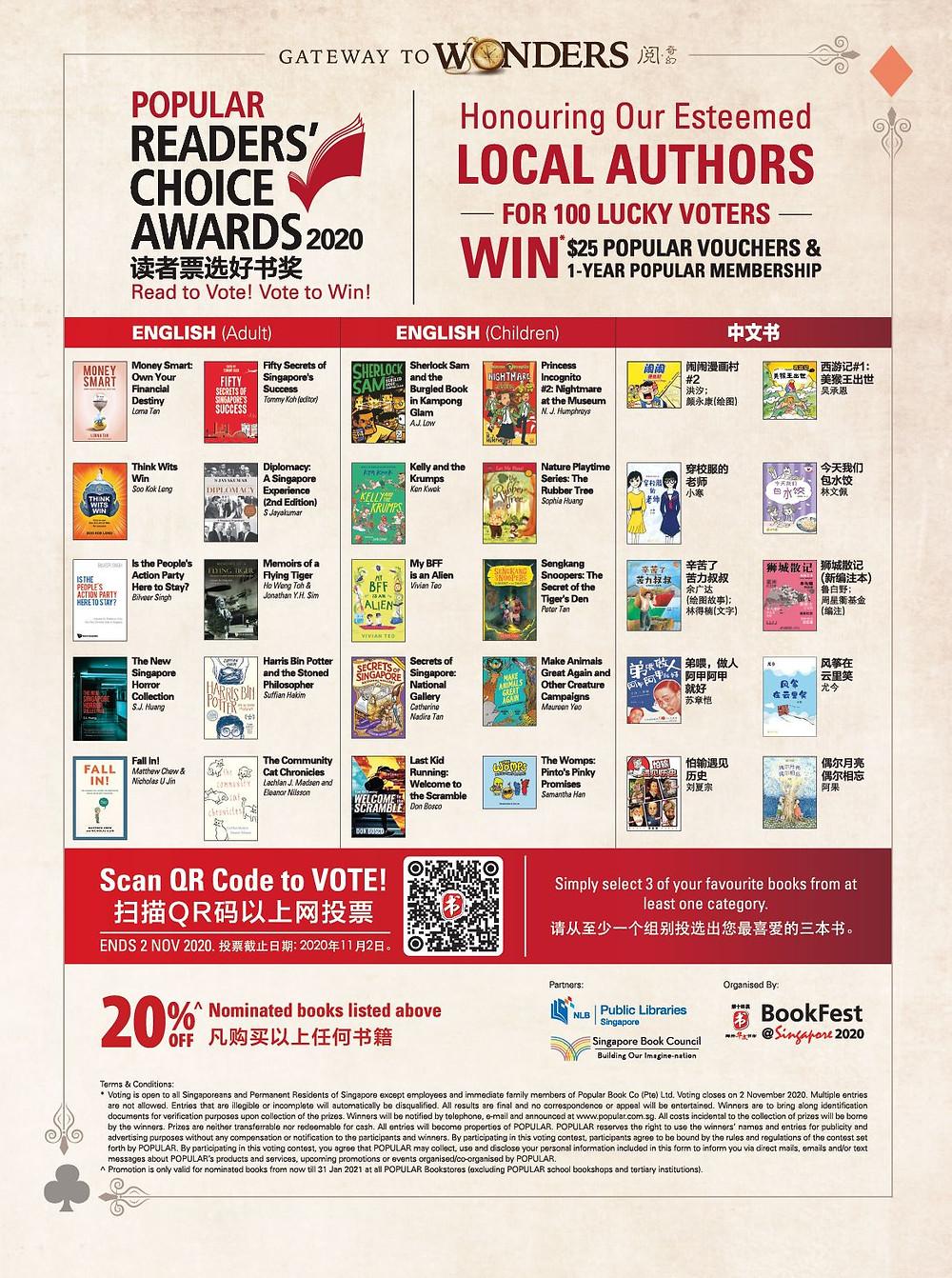 Popular Bookstore Readers Choice Awards 2020 My BFF is an Alien Epigram Books Singapore Vivian Teo middle grade book children kids Singlit