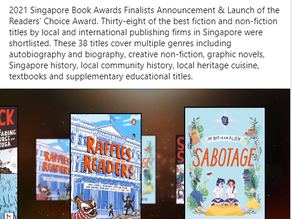 Sabotage shortlisted in the Singapore Book Awards 2021!
