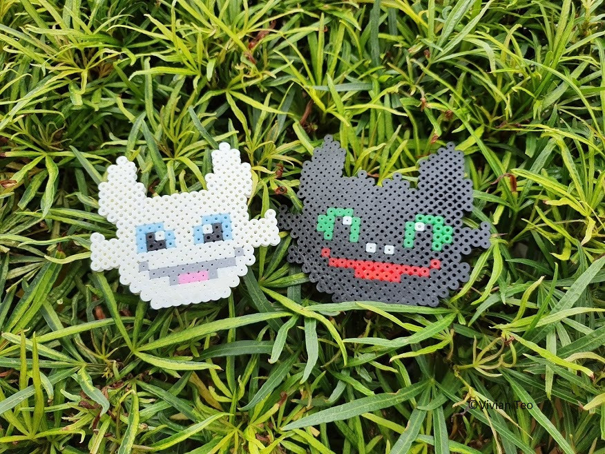 toothless night fury light train dragon bead art hama perler pyssla