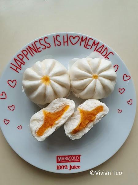 Singapore SMH food dim sum frozen dining in dine salted egg custard bun pau bao