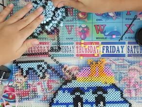 Stay-home bead art fun with kids