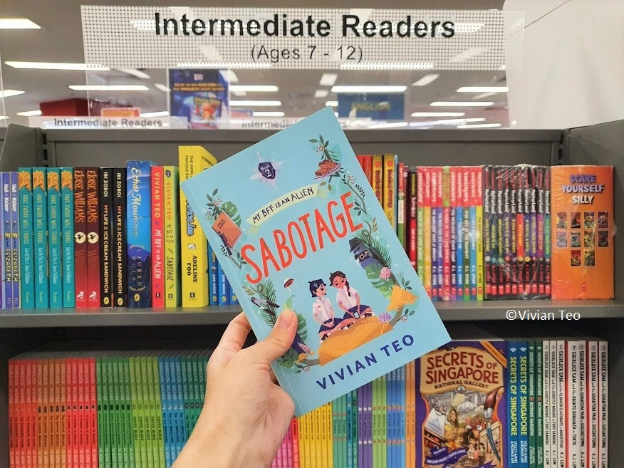 My BFF is an alien sabotage Vivian Teo popular bookstore middle grade book singlit children adventure reading Singapore