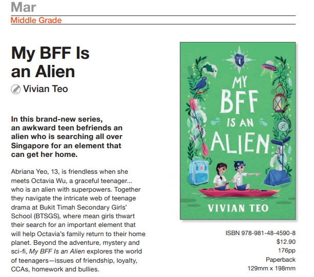 My BFF Is an Alien Vivian Teo Epigram Books Singapore middle grade series