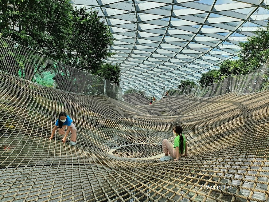 walking sky net changi airport jewel singapore canopy park kids play activities