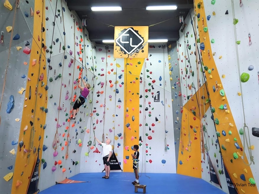 Climbers Laboratory Woodleigh Park Singapore Arena PUB Recreation Club rock wall climbing kids children