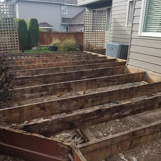 Decking Replacement Before