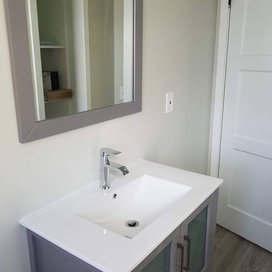 Sink and Mirror Installation