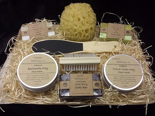 Luxury Handmade Face Mask Gift Set #5 All Natural,Vegan Friendly Clay Pamper Set