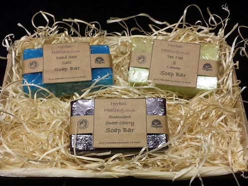 3 x Luxury Handmade Soap Gift Set #2 All Natural, Vegan Friendly Bath Pamper Set