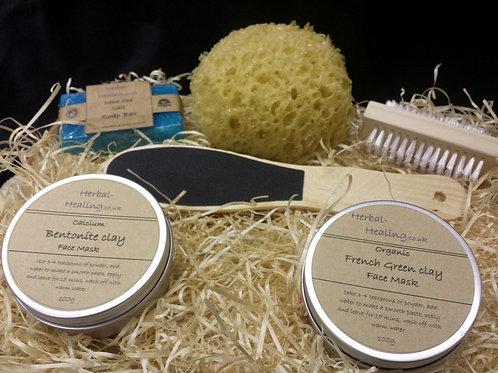 Luxury Handmade Face Mask Gift Set #4 All Natural,Vegan Friendly Clay Pamper Set