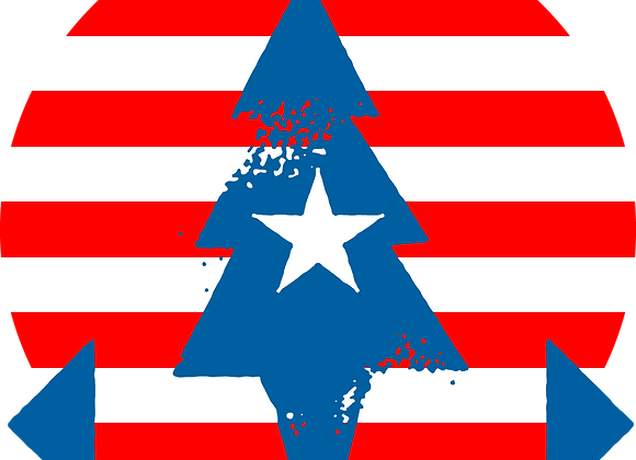 PATRIOTIC PEACE TREE STICKER