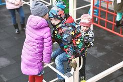Niños en patio