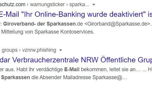 Phishing-Mail – Böse E-Mail – Ohne mich! Google-Suche bringt Gewissheit