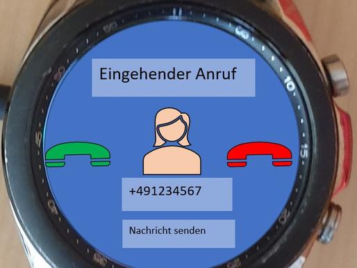 Smartphone stumm geschaltet - die Smartwatch meldet den Anruf