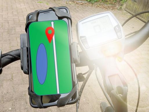 Smartphone als Navi für das Fahrrad in Halterung – mit Google Maps
