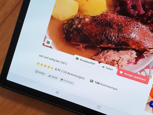 Rezept im digitalen Kochbuch