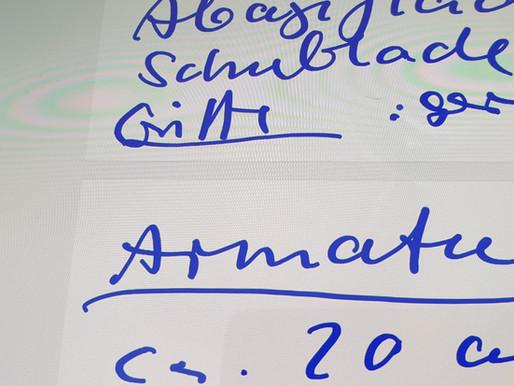 Zu einem Planungs-Termin: Mit Fotos und Notizen auf dem Tablet