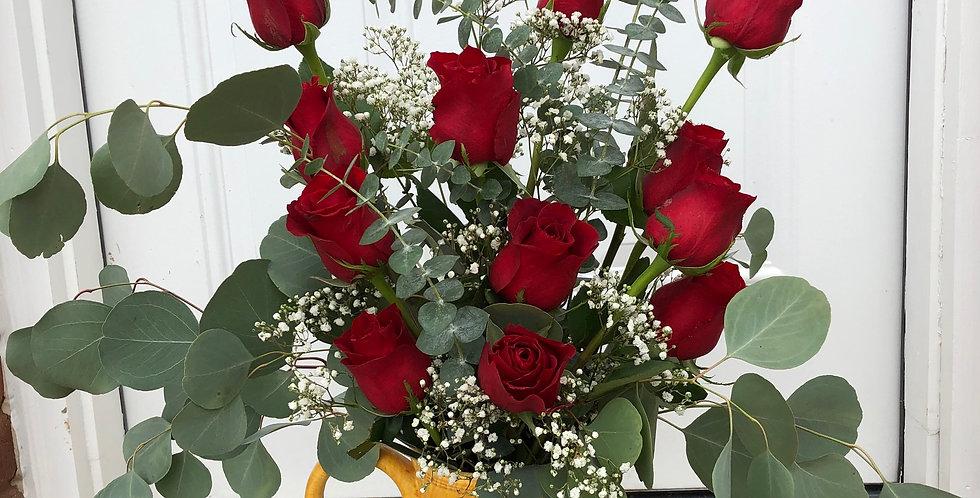 Large Rose Vase Arrangement