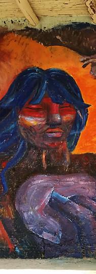 YANAPUMA  mural for the festival of murals in san roque de cumbaza, peru