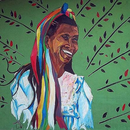 2018 san roque, peru_Mural art - quechua