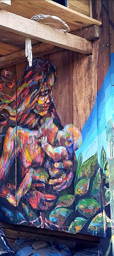 "PACHAMAMA  mural at ""almakaspi"" peru"