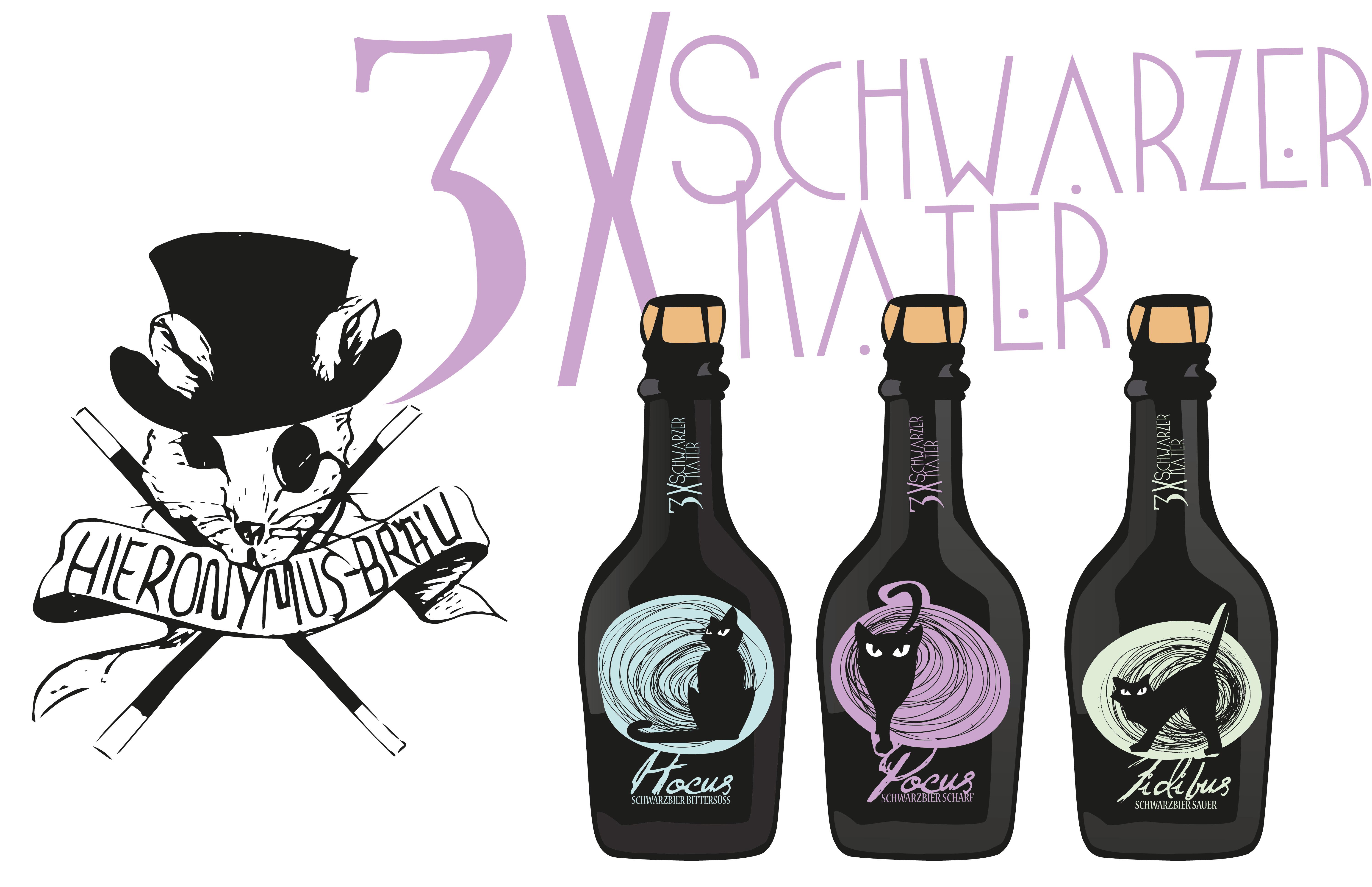 3x Schwarzer Kater - Bierkonzept