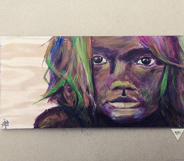 Mayu - Hija del río_#art #acrylicpaintin