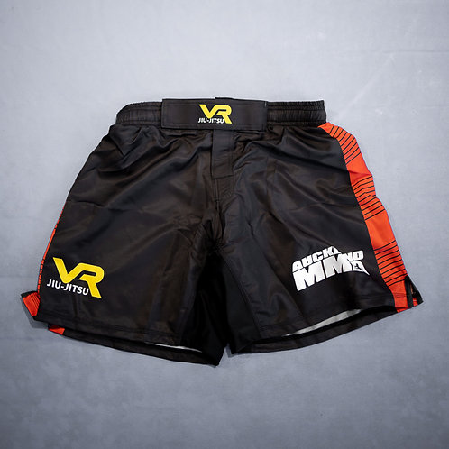 Auckland MMA Shorts Black and Red
