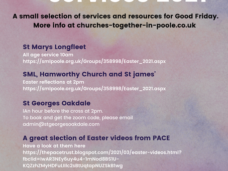 Churches together in Poole- Good Friday services and resources