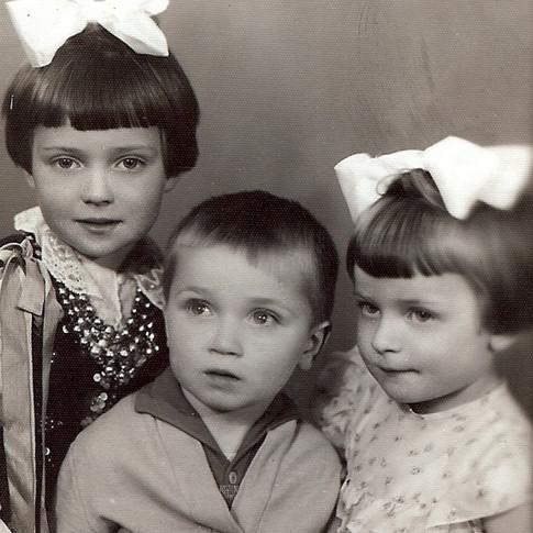 With my siblings Roman and Ewa