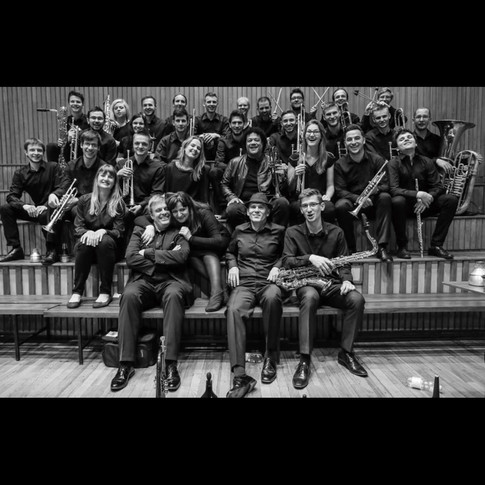 With the Music University Big Band in Warsaw