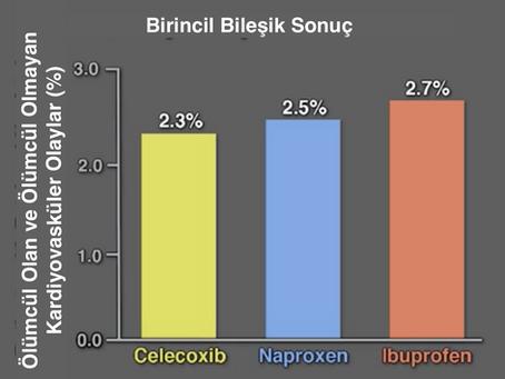 Celocoxib, naproksen ve ibuprofen'in kardiyovasküler risklerinin karşılaştırılması