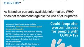 Coronavirüs Pandemisi Sırasında İbuprofen ve Diğer Non-steroid Anti-iflamatuar İlaçlar Kesilmeli mi?