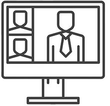 online-video-conference-line-icon-vector