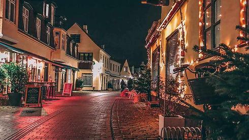 Gågaden i Dragør til jul