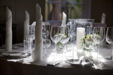Bryllup bordsopdækning