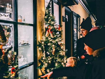 Jul i Dragør - levande fönster