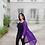 Thumbnail: Kimono long violet brodé