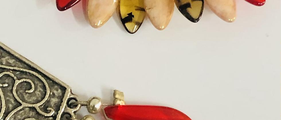 Boucles d'oreilles Chancay verre