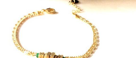 Bracelet double écrous Oh la la !