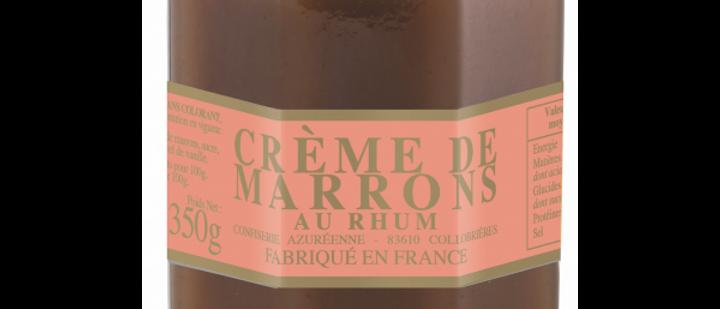Crème de marrons au Rhum 350g