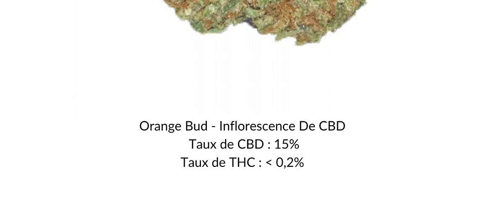Orange Bud - Inflorescence De CBD 5g