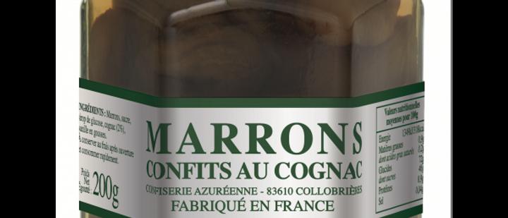 Marrons confits au Cognac 200g